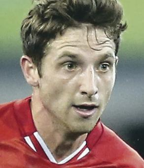Unbeatable feeling: Joe Allen is enjoying Liverpool's scoring run