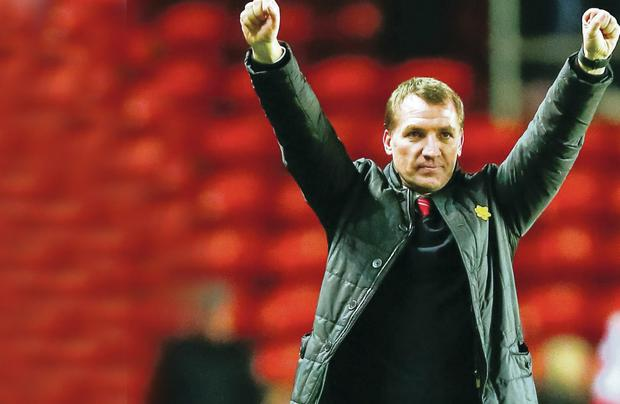 Liverpool manager Brendan Rodgers from Carnlough n Co Antrim