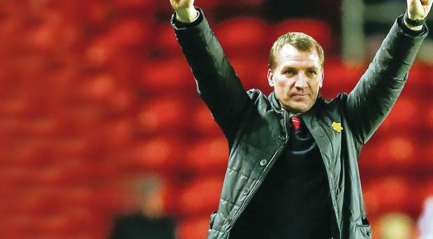 Brendan Rodgers, the Liverpool manager, will give a reading at today's memorial service