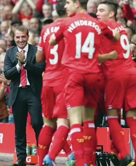 He's the man: Brendan Rodgers has turned Liverpool into a formidable outfit again