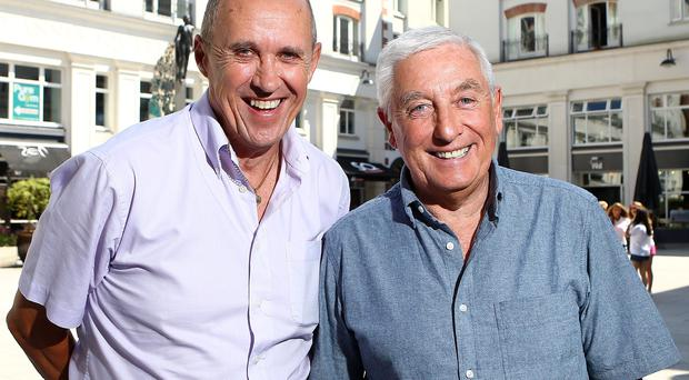 23rd July 2014 Photo by William Cherry/Presseye Liverpool legends Phil Neal and Roy Evans pictured in Belfast