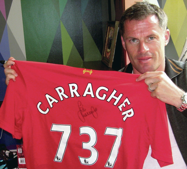 Jamie Carragher played 737 games for Liverpool