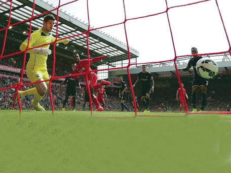 Crucial striker: Daniel Sturridge scores the winning goal against Southampton at Anfield