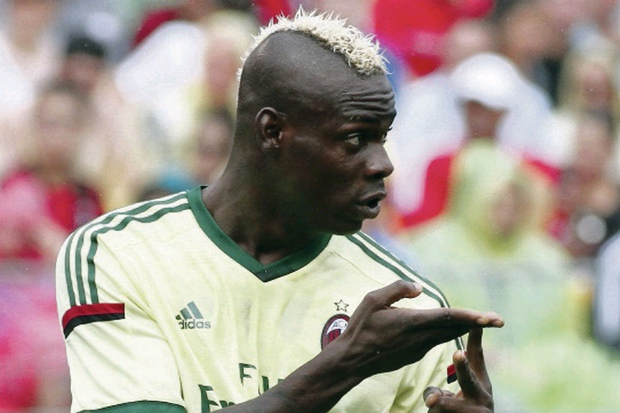 Striker Mario Balotelli