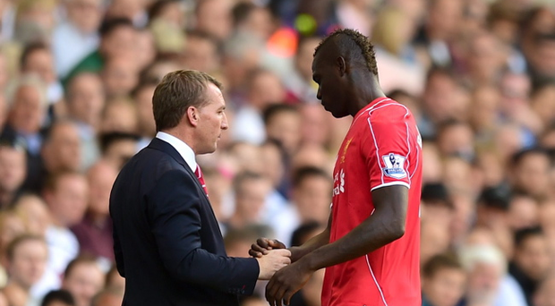 Mutual respect: Brendan Rodgers and Mario Balotelli have already established a good working relationship at Liverpool