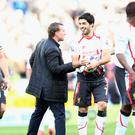 Good times: Luis Suarez hailed the methods of his former boss Brendan Rodgers after nearly leading the Reds to the title