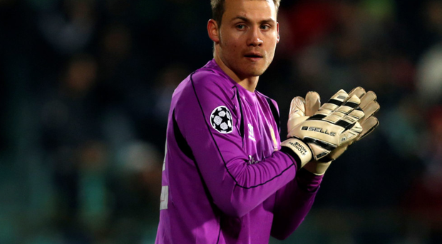Shaky: Simon Mignolet faces another test against Stoke
