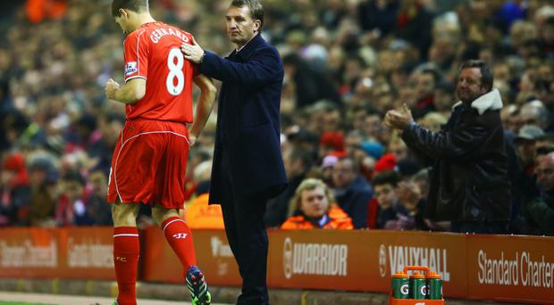 Testing times: Steven Gerrard and Brendan Rodgers have had a strained relationship