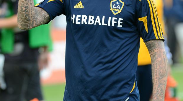 Fresh challenge: David Beckham enjoyed his spell at the LA Galaxy and now Steven Gerrard will sample life in America