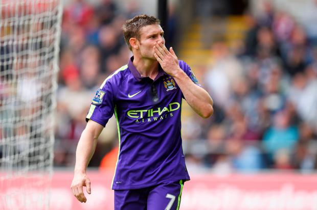 Kissing goodbye to City: James Milner will sign for Liverpool