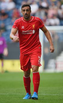 Fighting talk: Jose Enrique wants to stay at Liverpool