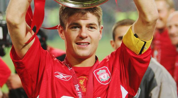 Impact: Steven Gerrard has called time on a glittering career that delivered many highlights, including an odds defying Champions League success