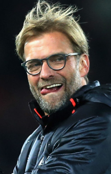 Bring it on: Jurgen Klopp is relishing the Merseyside clash