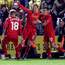 Wait off his mind: Lucas Leiva jumps for joy after netting his first goal for more than six years