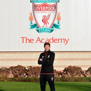 Gerrard at Liverpool Academy