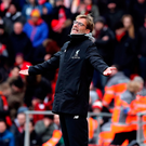 Testing time: Jurgen Klopp cut a frustrated figure at Anfield on Saturday