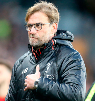 Angry: Jurgen Klopp let fly after Liverpool's loss to Hull