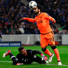 Cool head: Mohamed Salah weaves past keeper Jose Sa to put Liverpool 2-0 up