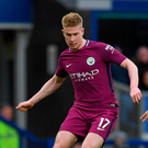 Another level: De Bruyne has hailed City's recent form