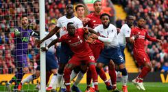 Hands on: Sadio Mane believes Liverpool have no margin for error as the title race hots up in the final weeks of the season