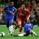 Touch perfect: Garcia evades Chelsea's Paulo Ferreira