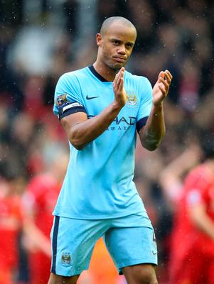 Applause: Vincent Kompany hailed Man City's strength in depth