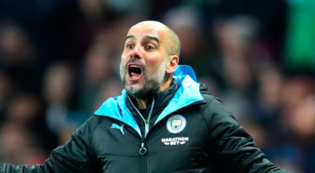 Full credit: Pep Guardiola was thrilled with Aguero's input