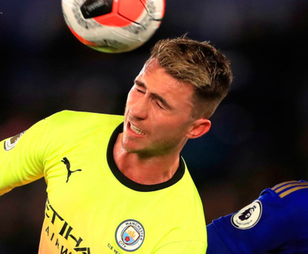 Early exit: City's Aymeric Laporte asked to be subbed on Saturday