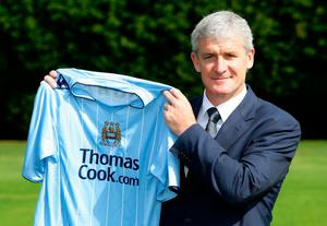 Blue spark: Mark Hughes becomes boss of Manchester City