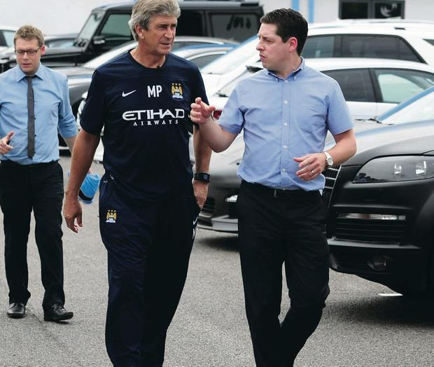 Manuel Pellegrini was introduced to the media for the first time as Manchester City boss