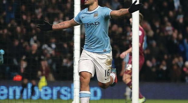 Sergio Aguero's hat-trick saw City through in their FA Cup win over Watford