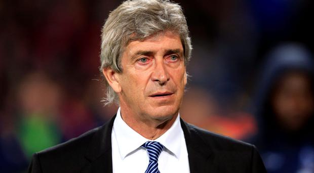 Under fire: Manuel Pellegrini's job as City boss is on the line