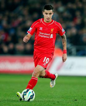 In the family: Philippe Coutinho was inspired by his mother