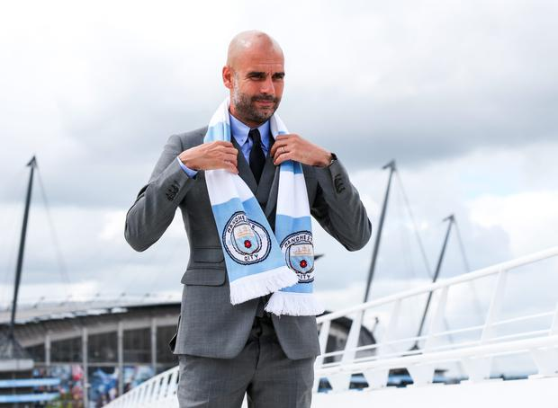 I'm blue: Pep Guardiola wants his new players to focus on their game