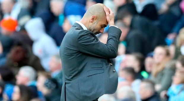 Head scratcher: Pep Guardiola wonders what's gone wrong