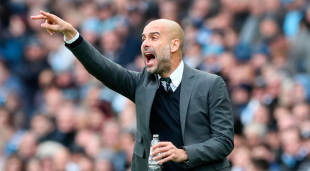 Right direction: Pep Guardiola is trying to take his City side to Barcelona's level