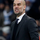 Frustrated: Pep Guardiola