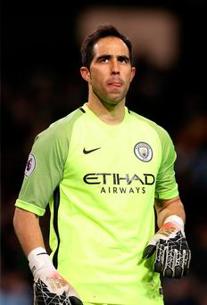 Manchester City goalkeeper Claudio Bravo