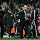 Job done: Pep Guardiola was pleased with City's recovery