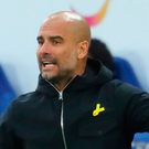 Tough run: Pep Guardiola will shuffle his City pack