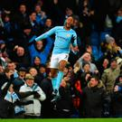 Hitting the heights: Raheem Sterling hails his winner