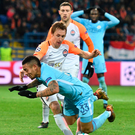 Foul play: City's Gabriel Jesus is tripped in the box as Bohdan Butko concedes a late penalty