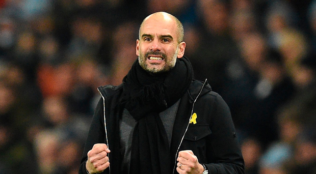 Character: City boss Pep Guardiola was pleased with his side's reaction