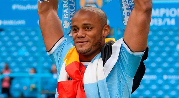 Top boy: Vincent Kompany last toasted league glory in 2014