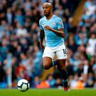 Frustrated: Fabian Delph says City took foot off gas