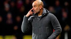 Lead man: Pep Guardiola has City firing on all cylinders
