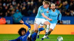Fighting fit: Kevin De Bruyne played for 70 minutes on Tuesday