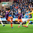 Slick Sane: Manchester City's Leroy Sane scores his side's third goal