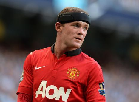 Manchester United's Wayne Rooney during the Barclays Premier League match at the Etihad Stadium, Manchester. PRESS ASSOCIATION Photo. Picture date: Sunday September 22, 2013