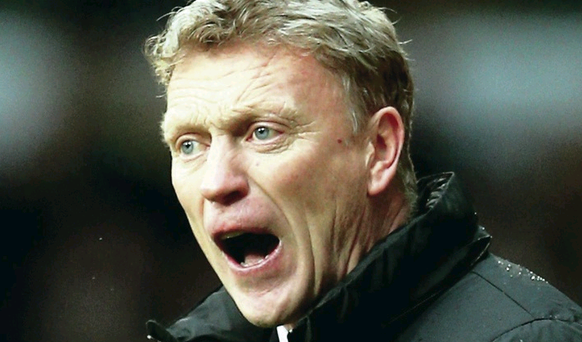 Rebuilding job: David Moyes said it was going to take a little bit of time to get sorted at Old Trafford
